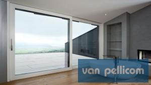 Des fen tres en pvc avec une porte coulissante en verre - Porte coulissante en verre interieur ...